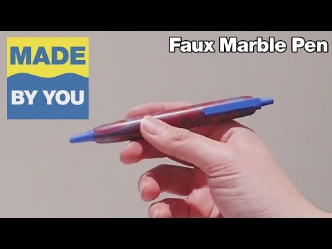 How To Make a Faux Marble Pen Using Epoxy Putty