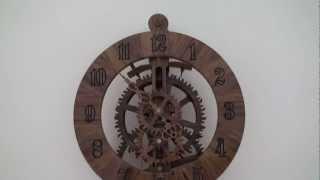 Wooden Gear Clock Brian Law's Design