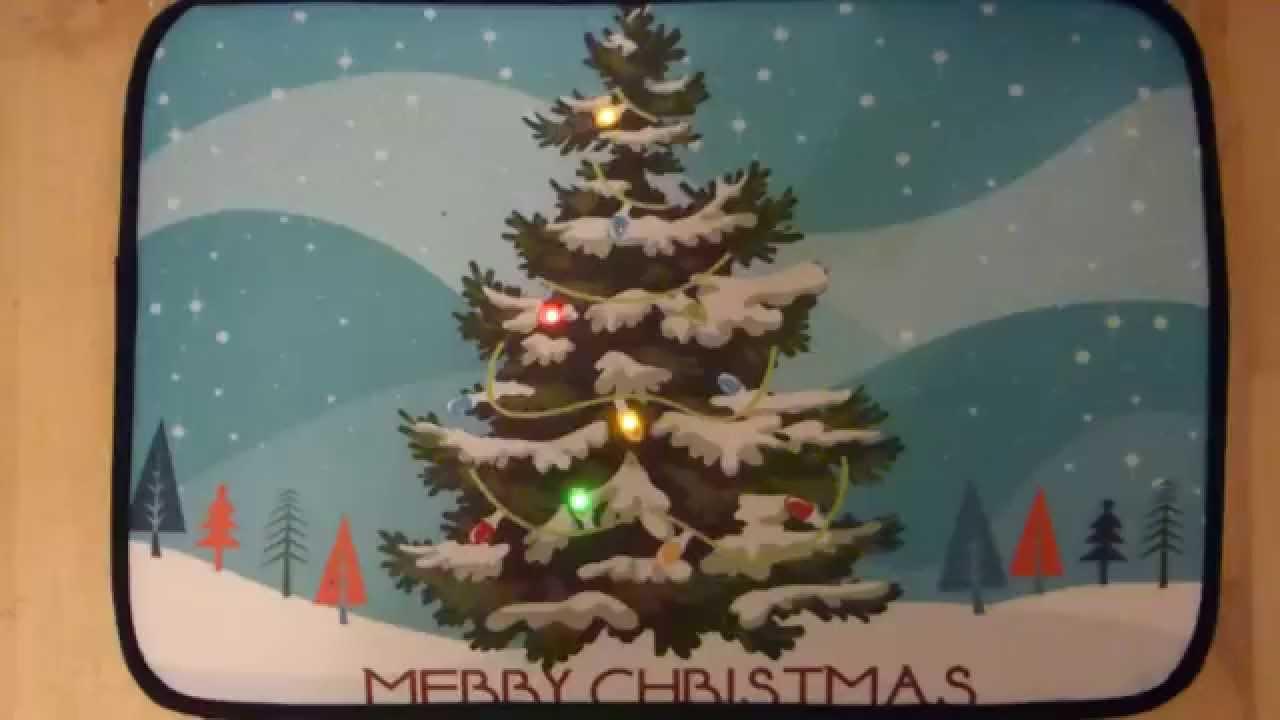 Christmas Tree Musical Christmas Door Mat With Led Lights