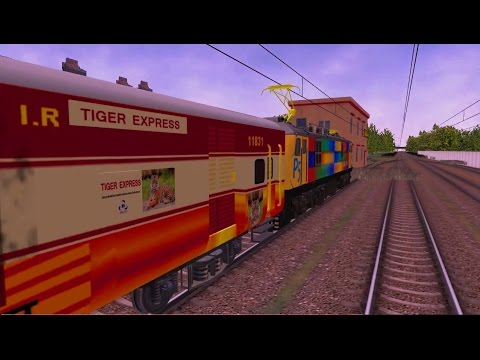 Tiger Express Trial in Punjab Route in MSTS Open Rails by Sumit Mehrotra