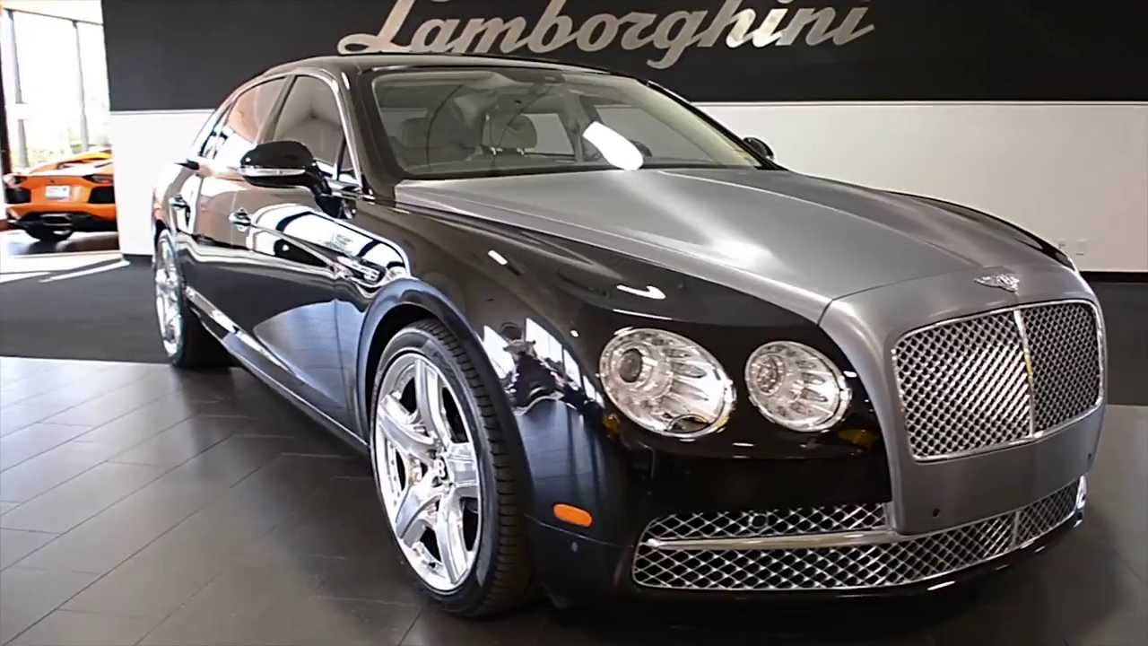 2014 bentley continental flying spur onyx black lc275 - youtube