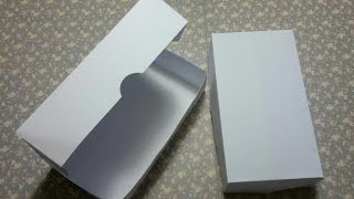 EASY How to fold box with fold over lid using one A4 paper No scoreboard