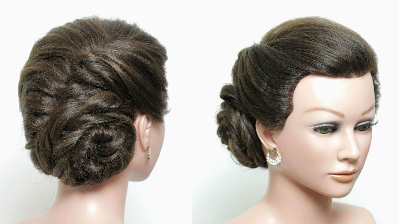 Simple Braid Side Bun Hairstyle For Long Hair Tutorial ...