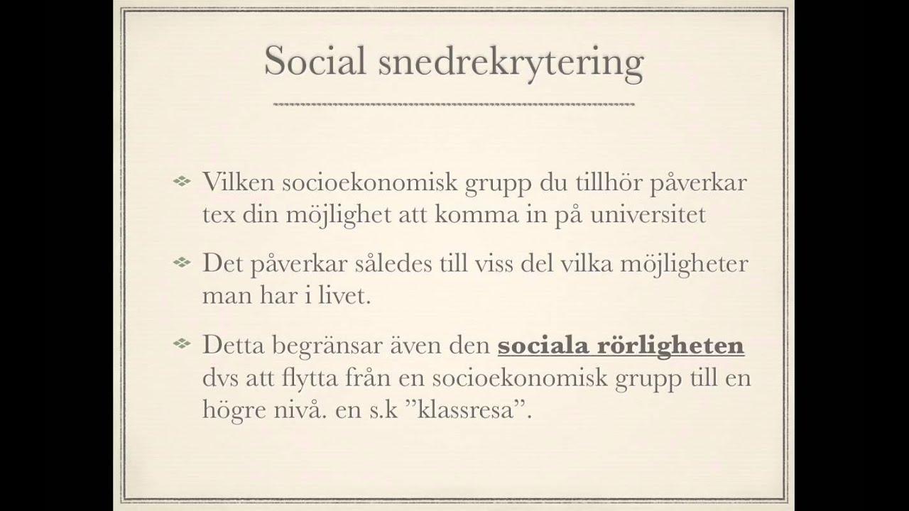 vad är socioekonomiska faktorer