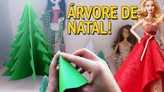 Como fazer Árvore de Natal para bonecas Barbie, Monster High, EAH etc