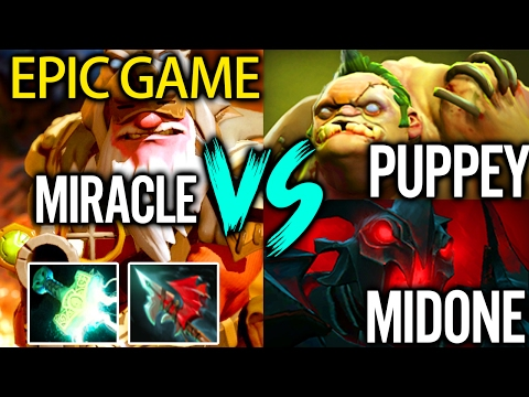 Electric Sniper Pro Mid Carry by Miracle vs Puppey MidOne Dota 2 Patch 7.00 Gameplay