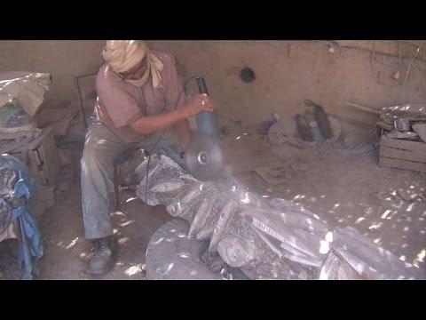 Fossil treasures at risk in Morocco desert town
