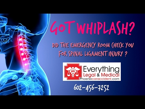 Car Accident Emergency Room | Spinal Ligament Injury in Phoenix