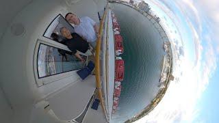 Our Norwegian Getaway Thanksgiving Week Cruise Sailaway Time lapse