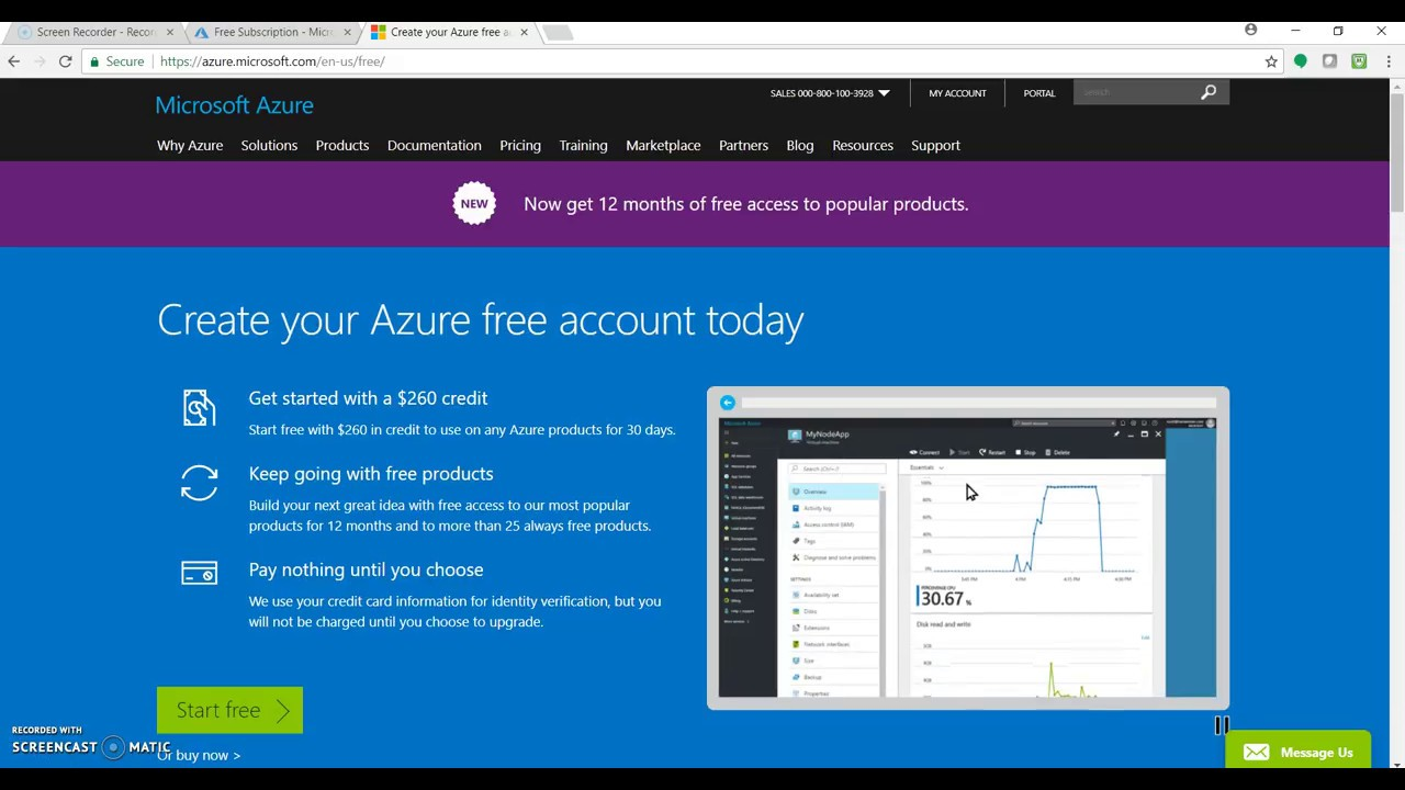 Exploring Microsoft Azure Free Account [Video] - DZone Cloud