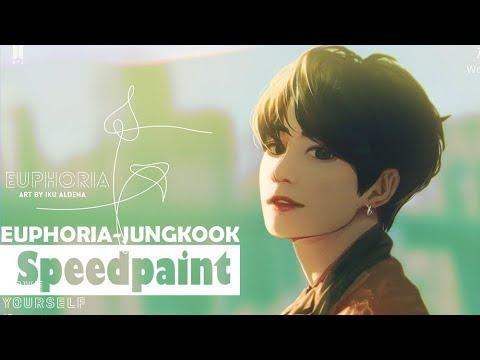 Bts Hd Wallpaper Desktop Sai Speedpaint Bts Euphoria Jungkook Youtube
