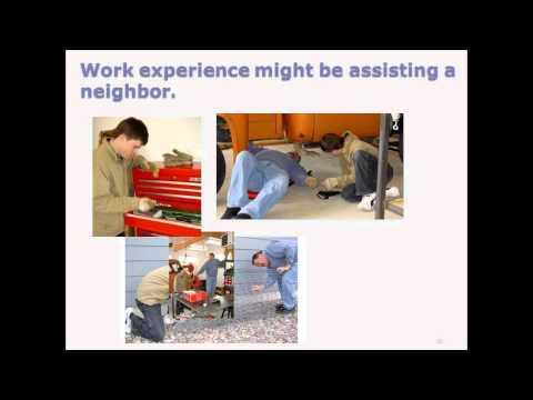 Work Experience in Rural Areas Webinar - Nov. 15, 2011