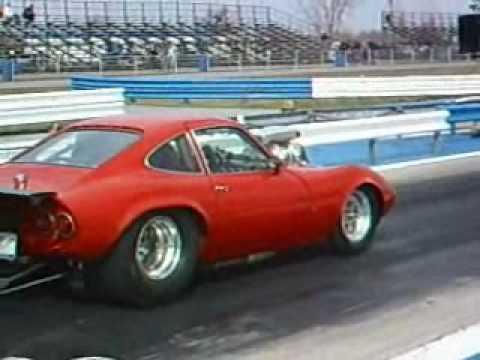 93 Octane Gas >> Pro Street 69 Opel GT Blown Injected BBC V8 93-octane driven - YouTube