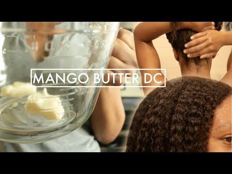 I PUT BUTTER IN MY HAIR! // DIY MANGO BUTTER DEEP CONDITIONER | T'keyah B