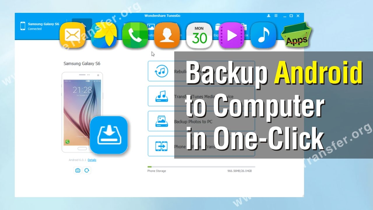 Phone Complete Phone Backup Android how to backup android phone computer in one click youtube click