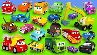 Fire Truck, Excavator, Train, Police Cars, Garbage Truck, Tractor Construction Vehicles stories