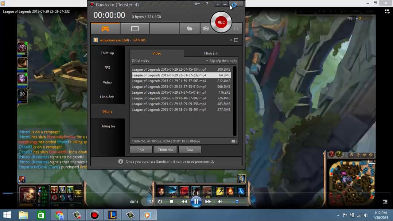 Hướng dẫn phần mềm quay màn hình máy tính khi chơi Game.