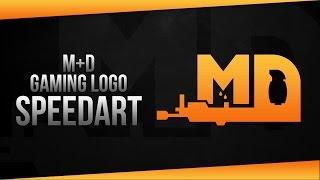 [Speedart] M+D Gaming Logo Design - Illustrator
