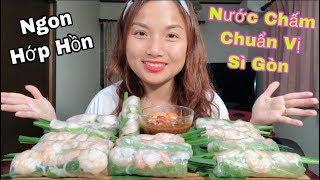 🇯🇵Ăn Gỏi Cuốn Tôm Thịt Chấm Tương Ngon Hớp Hồn - Nước Chấm Chuẩn Vị Sài Gòn#257