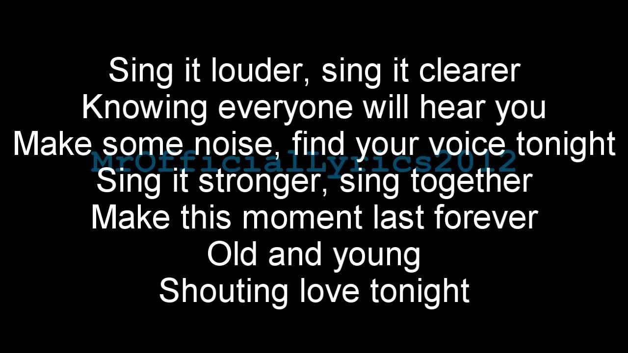 Gary Barlow - Sing (Lyrics) *HQ AUDIO* [Commonwealth]