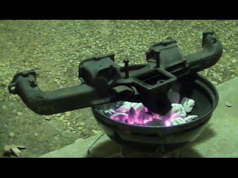 part 1 mig welding cast iron inline 6 exhaust manifold