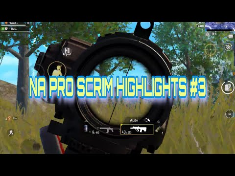 PUBG MOBILE/ NA PRO SCRIM HIGHLIGHTS #3/ SV Edwin