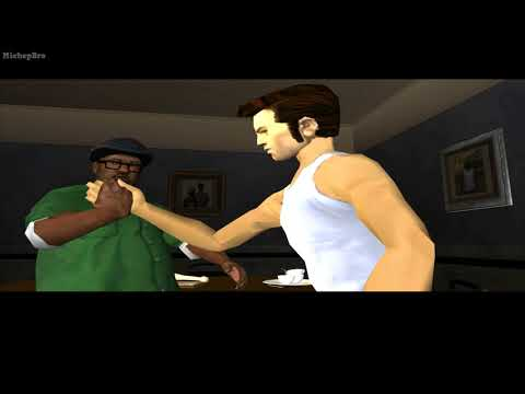 GTA San Andreas but it's Claude which replace CJ and don't say any word