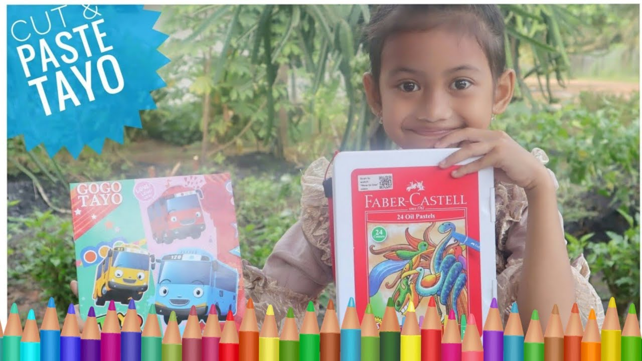Mewarnai Tayo The Little Bus 🌸 Nada Mewarnai Hart 🌸 Nana Toys Review