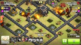 Clash of Clans - 3 LAVA E 8 DRAGÕES? Como não atacar na guerra! Hue br