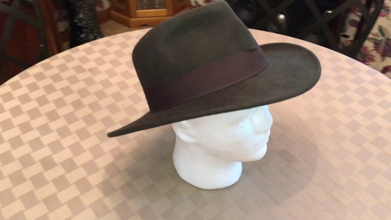 Indiana Jones Crushable Wool Fedora Hat - YouTube 1746c161bdb6