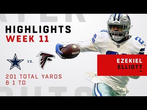 Ezekiel Elliott's 201 Total Yards & 1 TD vs. Falcons