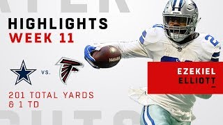 Ezekiel Elliott's 201 Total Yards & 1 TD vs. Falcons