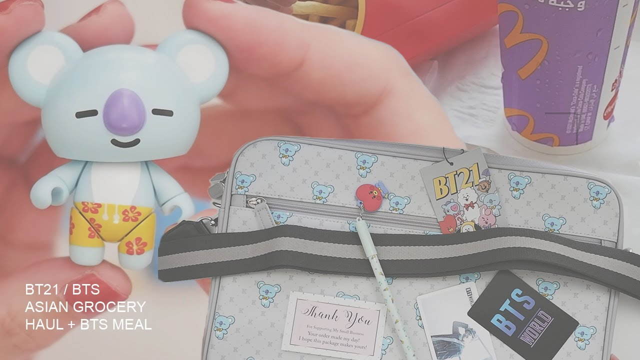 BT21 BTS Stuff | plus BTS Meal and Asian Grocery Haul | Dailies