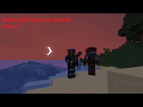 Minecraft Survival Island series co-op part 1 Getting resources while building a house (Commentary)
