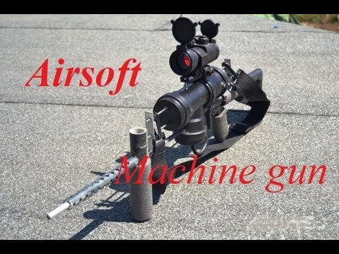 home made airsoft machine gun