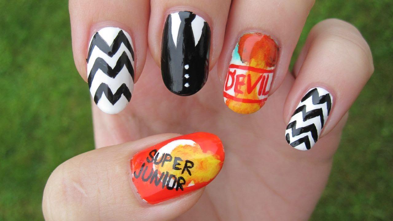 Kpop super junior devil nail art youtube kpop super junior devil nail art prinsesfo Choice Image