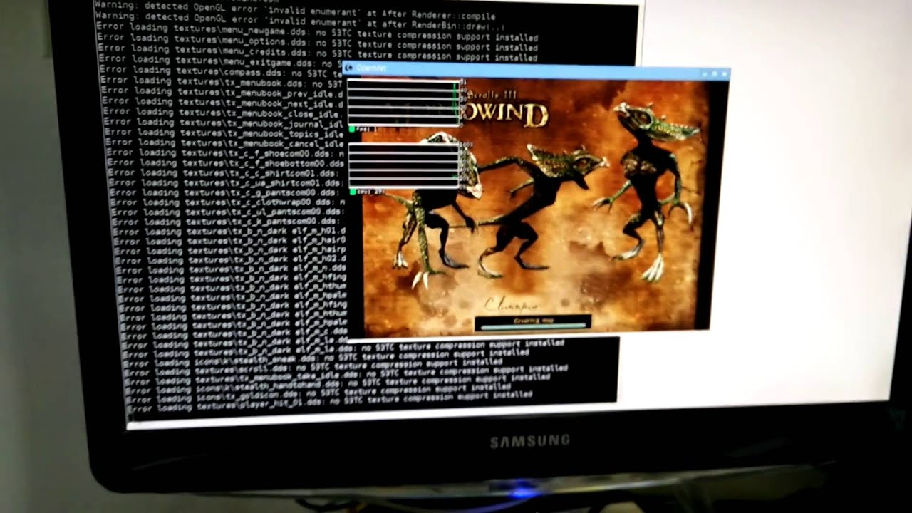 OpenMW running on Raspberry PI 2 + VC4 driver, kind of