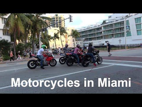 Motorcycles in Miami USA