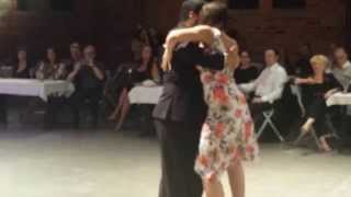 Ney Melo and Melina Mistral - Dancing 4/4 tango, argentine tango (2014-09-20 Tampere, Finland)
