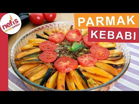 Fırında Patlıcanlı Parmak Kebabı Tarifi -  Fırında Yapılan Yemekler - Nefis Yemek Tarifleri