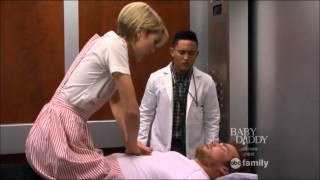 Riley & Danny Kiss in Hosptial Lift (Baby Daddy)