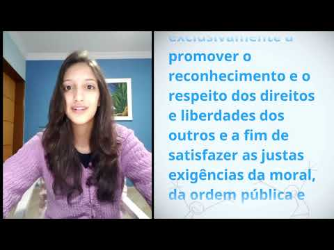 Marina Benavides Guedes, Brazil, reading article 29 of the Universal Declaration of Human Rights