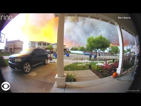 Reece - Doorbell Camera Captures Family Rushing To Escape California Wildfire