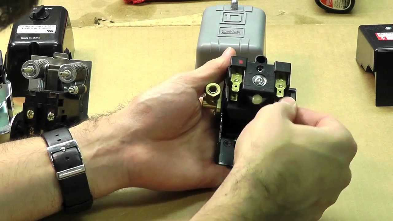 how to adjust and wire a pressure switch youtube air compressor pressure switch diagram pumptrol air compressor [ 1280 x 720 Pixel ]