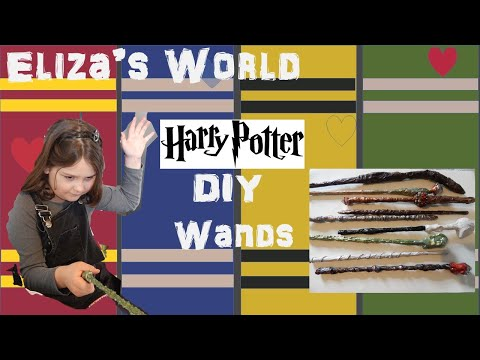 Harry Potter Wand DIY Craft With Extra Magic Inside!
