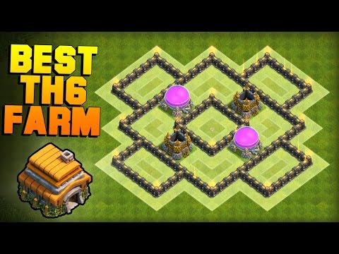 Clash Of Clans | BEST TH6 Farming Base 2017 | New Town Hall 6 Defense Base Layout [CoC TH6]