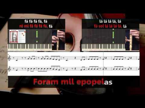 Conquistador - Karaoke e notas para duas flautas - Educação Musical