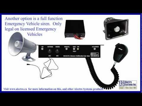 Armored Vehicle Intercom / PA / Siren - Made in Canada by Alectro Systems