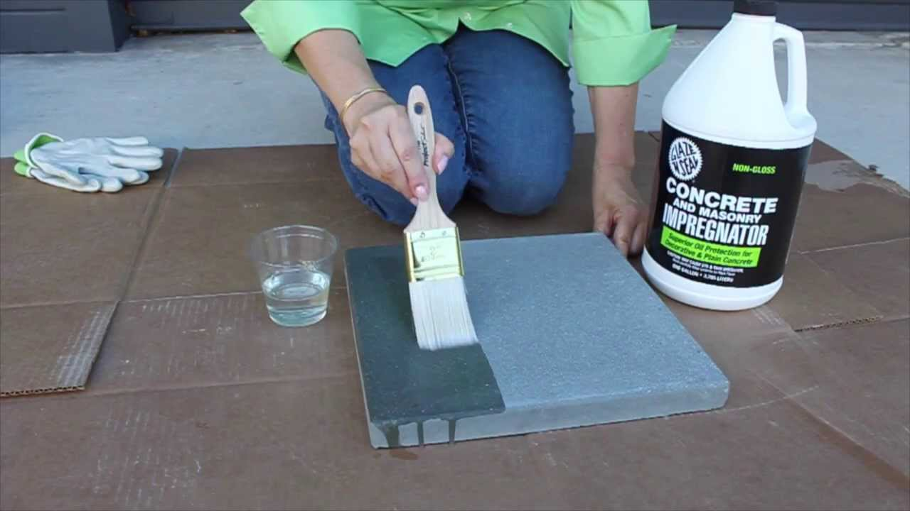 How To Seal With Glaze N Seals Concrete And Masonry Impregnator
