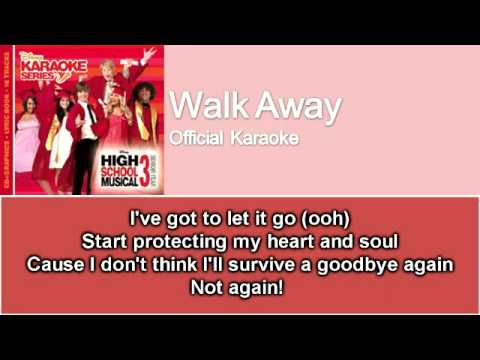 06 Walk Away (Official Karaoke / Instrumental) with Lyrics on Screen